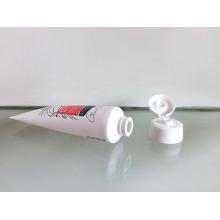 Passou-se na orientado aleta tampa superior com tubo de PE para recipiente cosmético