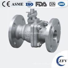 100 мм нержавеющая сталь SS304 pn16 фланец шаровой клапан