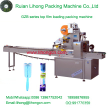 Gzb-350A de alta velocidad de la almohadilla de tipo automático de la taza de Brusher Flow Wrapping Machine