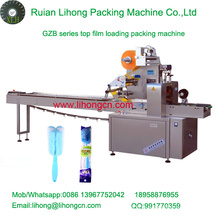 Gzb-350A High Speed Pillow-Type Automatic Cup Brusher Flow Wrapping Machine