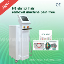 H8 3000W with 10nm X 4nm for Sr, 15nm X 50nm with Shr IPL Hair Removal Machine
