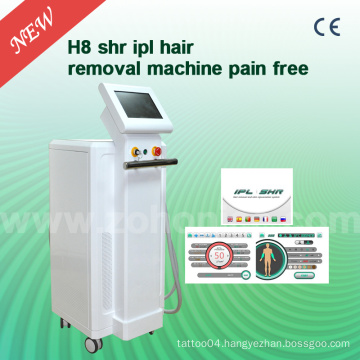 H8 3000W with 10nm X 4nm for Sr, 15nm X 50nm with Shr IPL Hair Removal Machine