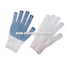 Gant à pois blanc en PVC tricoté à la cheville 7g - 2406