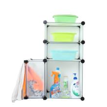 Cbinet plástico del almacenamiento de DIY con muchos colores disponibles (FH-AL0611)