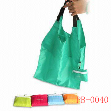 folded 190T polyester bag
