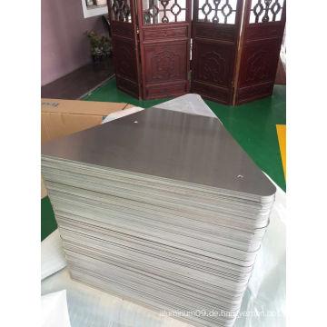 Verchromtes Aluminiumblech 5052 H38 für Schildzuschnitte