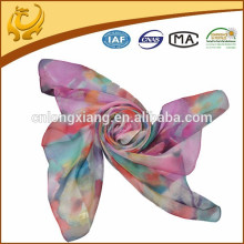 100% silk ladies fashion long 8mm chiffon scarf