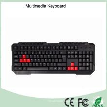 Multimédia à clavier de jeu de qualité supérieure durable (Kb-1688-B