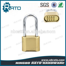 Factory Price Zinc Plated Finish Long Chrome Shackle Magnetic Golden Padlock