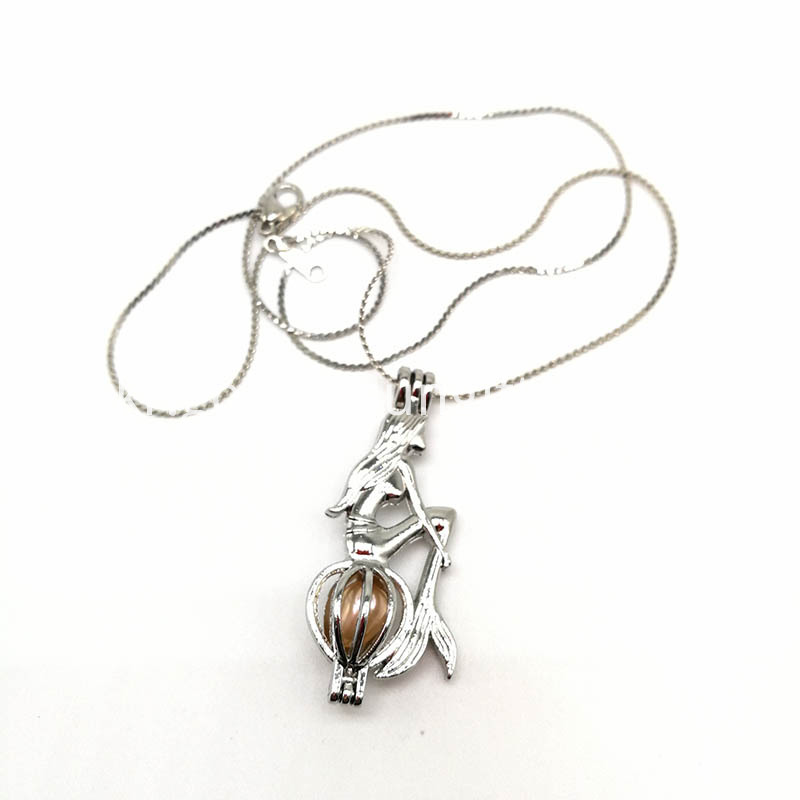 Silver Plated Hollowed Mermaid Design