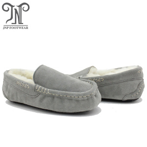 Women soft indoor room moccasin fur ankle slippers