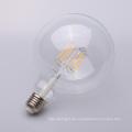 4w 6w 8w Dimmable gerade Faden LED E27 klar 80mm 95mm 125mm G80 G95 G125