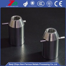 Tungsten seek chuck for glass furnace electrode