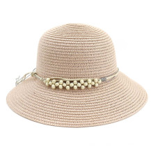 Chapeau de paille en papier d'été style ondulé