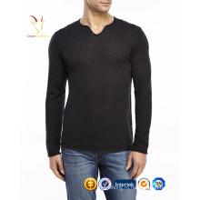 Новый Мужская мода чистой шерсти пуловер с волком печатных свитер
