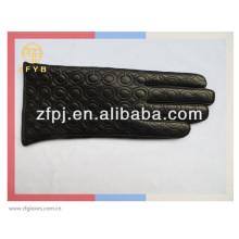 Guante de moda personalizada Lady Real Leather