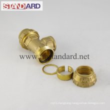 Brass Female Tee PE Fitting