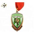Factory cheap gold sliver bronze bronze custom soccer enamel medals