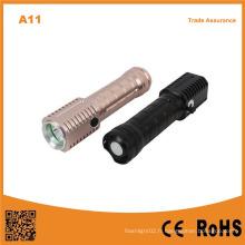 Torche LED 5W Batterie rechargeable en aluminium Lampe de poche LED