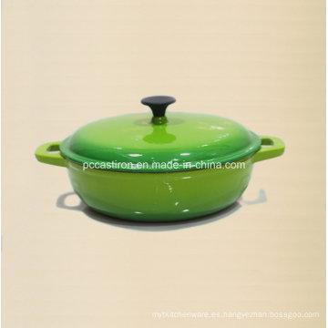 China Fábrica de suministros de esmalte de hierro fundido Cookware Fabricante