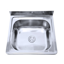 Australien Waschbecken Waschbecken aus Edelstahl Waschbecken mit Backsplash für Badezimmer