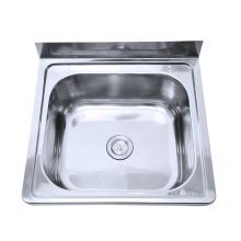 Australia washing basin stainless steel laundry sink with backsplash for bathroom