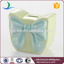 Cute blue bowknot handbag coin bank for gifts