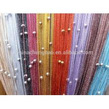 China Lieferant Regenbogen Farbe bling String Vorhang mit Perlen