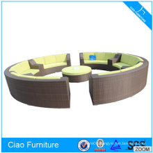 USA Style Wicker Curved Outdoor Sofa