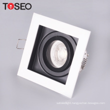 Die-casting adjustable cut size 90*90mm recessed anti glare led downlight fixture