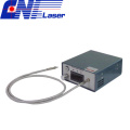 Narrow Linewidth Fiber Coupled Laser for Raman Spectroscopy