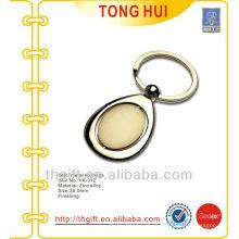 Custom gold blank metal keychain/keyrings