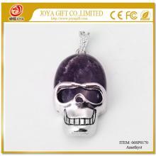 Semi Precious Stone Amethyst skull Gemstone Jewelry Pendant