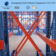 Estante de almacenamiento de carga larga y doble cara