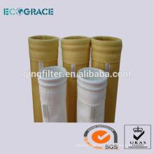 PTFE Acrílico Fibra de aramida Aguja no tejida perforada Colector de polvo calcetines filtrantes