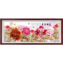 Flor de peônia bordada à mão
