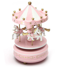 new style wooden carousel music box