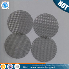 60x0,15 mm Edelstahl Pfeife Gaze / Bildschirme / Filter