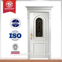 China Massivholz Tür Holz Glas weiße Tür in Luxus-Design Lieferanten Wahl