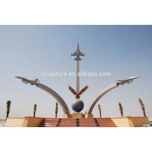 Grand monument moderne Arts Animaux ou décoration extérieure statue en métal ou sculpture en acier inoxydable