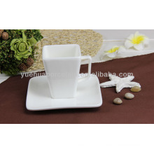 squre white ceramic tea cup and saucer wholesale