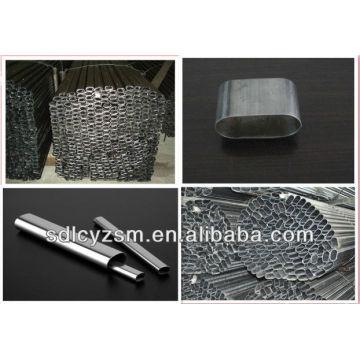 flat oval tube/steel pipe flat oval shape