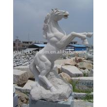 Belle sculpture en pierre de cheval