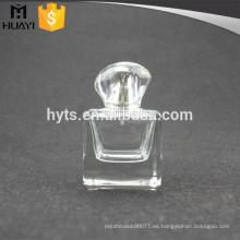 Botella de perfume de vidrio cuadrado de 50 ml con tapa surlyn