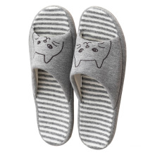 cheap wholesale High Quality China household floor cotton fabric flat open toe slippers