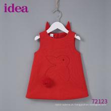 Saia de coelho de vestido vermelho do bebé 72123