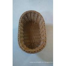 Cesta de plástico de pan de ratán; Fake Rattan cesta de almacenamiento de plástico