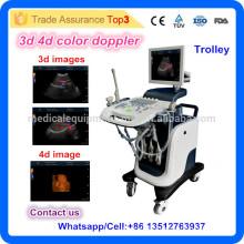 MSLCU24I Chariot cardiaque Doppler couleur Machine à ultrasons Prix Médical 2D 3D 4D Echocardiography Ecografo USD Echo Machine