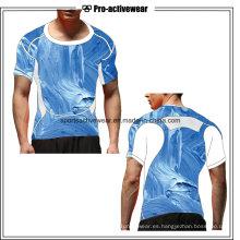 Venta al por mayor Dry Fit Compress Wear Deportes Running Men Cotton Últimas camisetas para hombres
