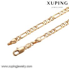 43649 nouveau design collier plaqué or indien fashion 18k delicat simple collier de bijoux